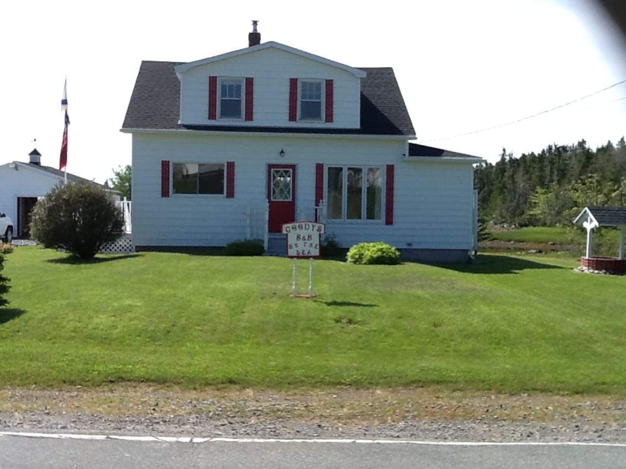 Front view of our home in Port Bickerton. On Nova Scotia's Eastern shore.