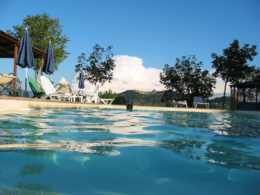 the view upon Todi from the pool