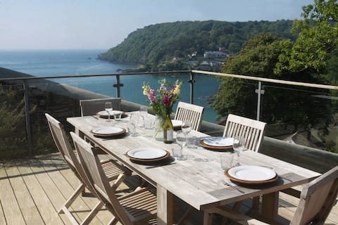 Salcombe Apartment - Large Decking and Sea Views
