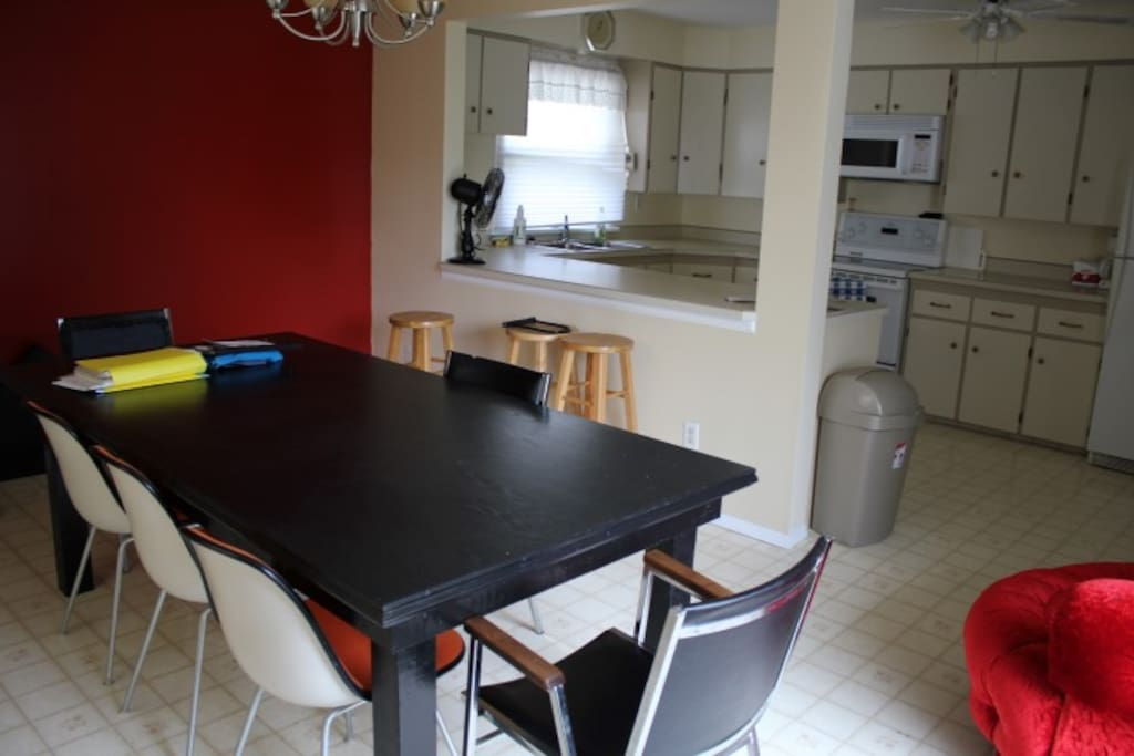 This is our upstairs kitchen which we will share with you