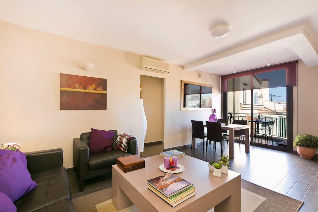 Penthouse terrace appartamenti in affitto a barcellona for Appartamenti barcellona affitto mensile