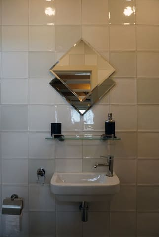 Het badkamertje.
