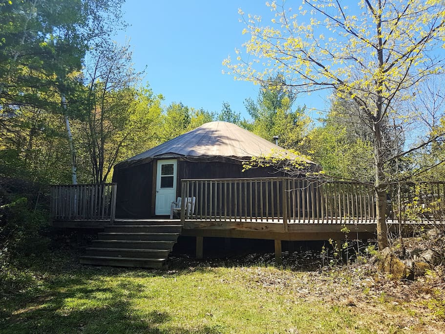 Front of yurt in late spring.