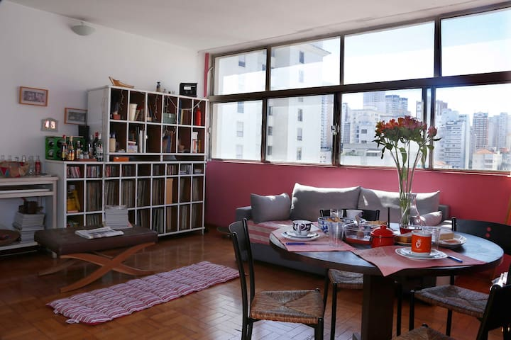 Room in colourful apt at Pinheiros - São Paulo - Appartement