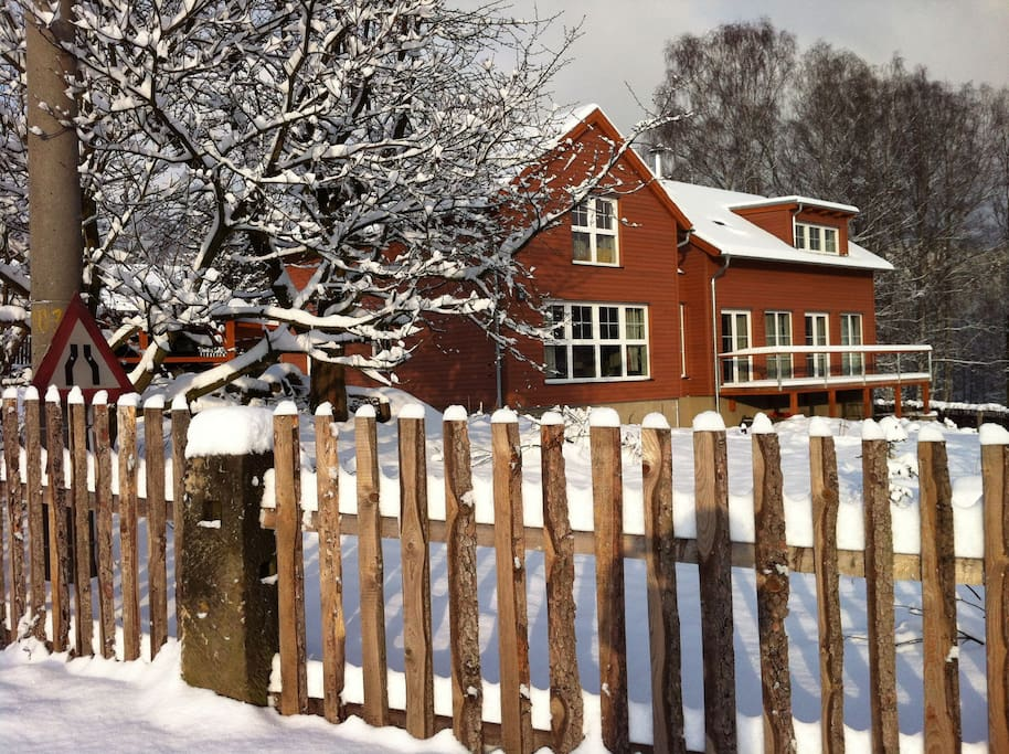 The house in January