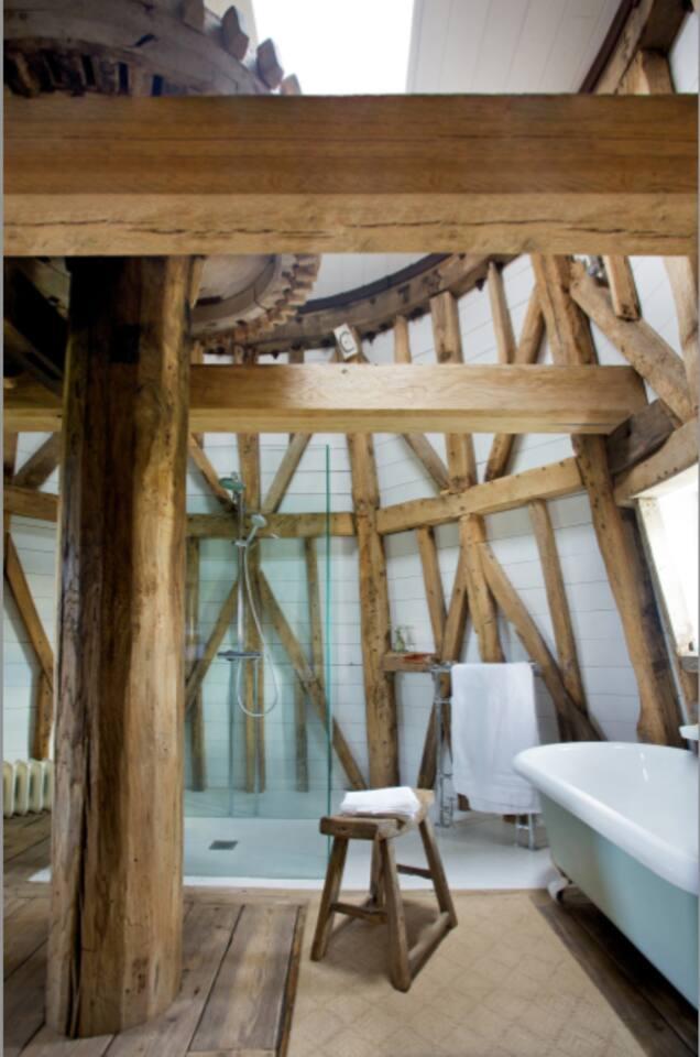 Wet room bespoke shower.