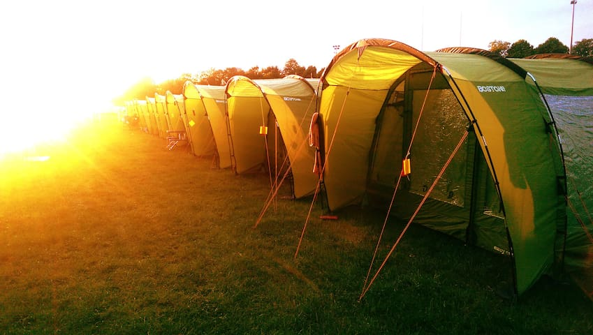 Pre-Pitched 4 Man Tent for 4 Persons - Cardiff - Tent