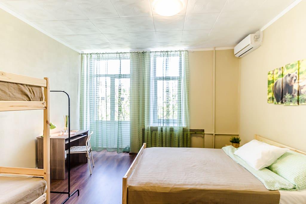 4-х местный номер с балконом/Family Suite with a balcony
