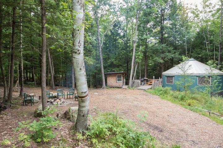 Fisher Ridge Yurt at Maine Forest Yurts