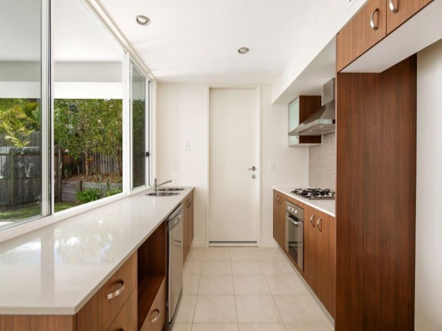 Galley kitchen fully equipped