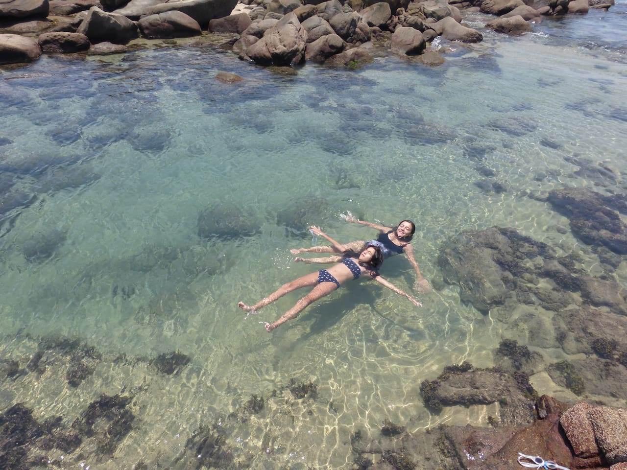 Incredible natural pools at only 70 steps from the  house and you can also snorkel!!!