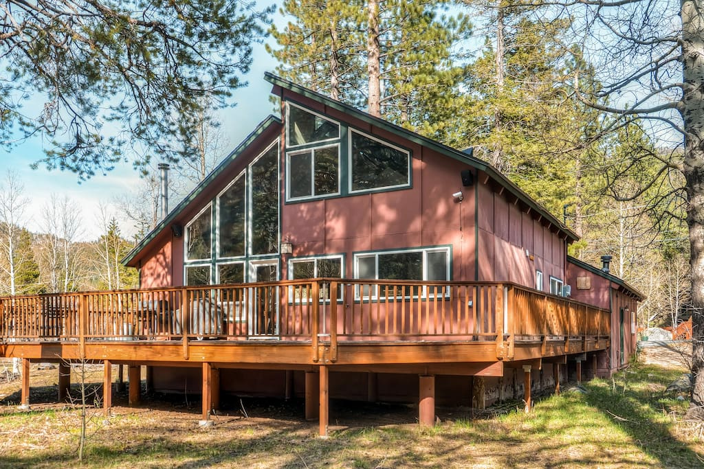 Enjoy views of the forest from the large deck