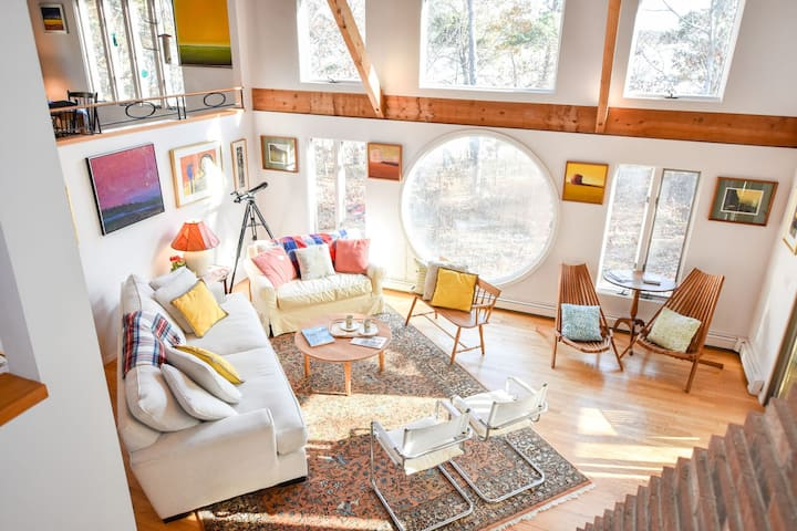 #316: Bright, open, creative home on Drummer Cove you will LOVE! Dog friendly!
