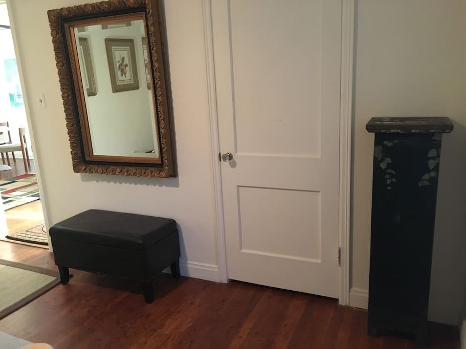 Full length mirror & plenty of closet space in guest bedroom. All linens supplied.