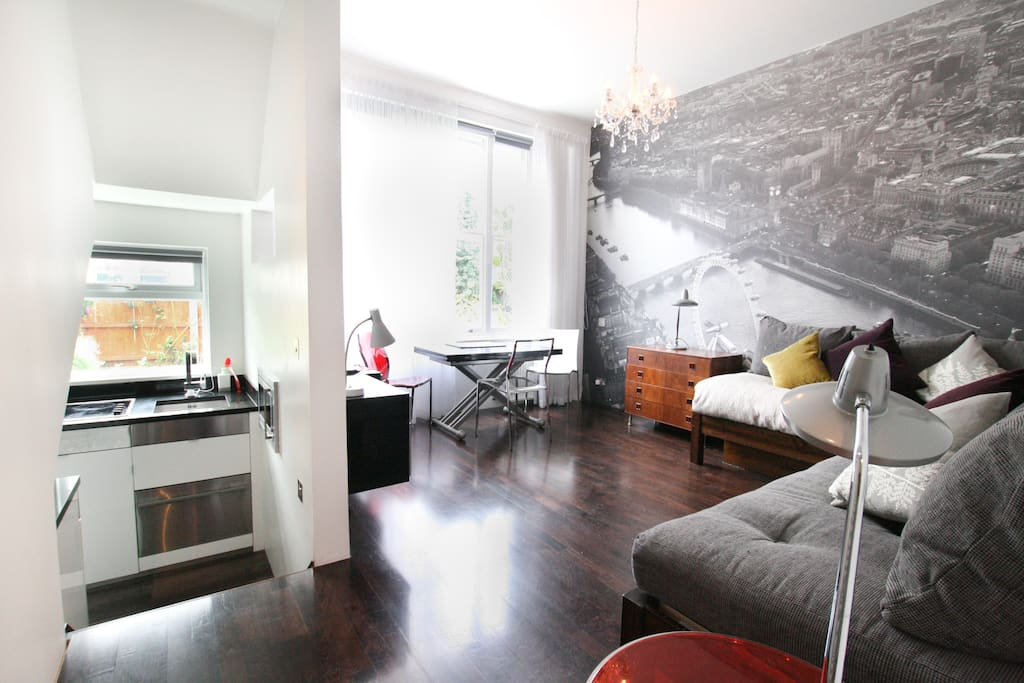 Stylish flat one minute from kensington olympia for Alquiler piso londres