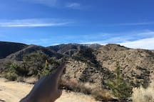 Snow Capped Mountains - Pointing at Wrightwood