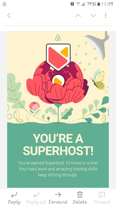 A huge Thank You! to our amazing guests who keep us at the top of Larnaca Airbnb Superhosts for the 10th consecutive quarter, since the beginning of our operation!