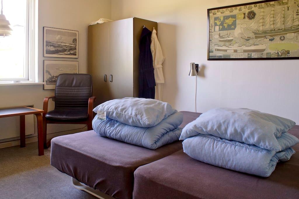 Et blik ind i et af vores dejlige værelser