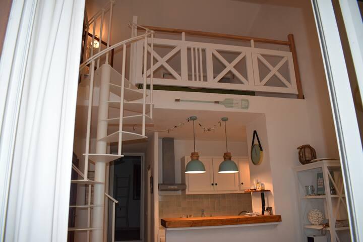 cuisine et chambre mezannine
