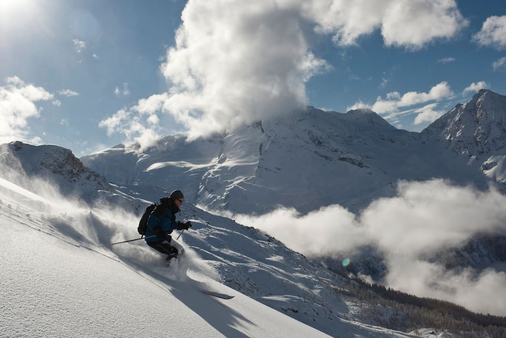 Sainte Foy is renowned for it's off-piste skiing