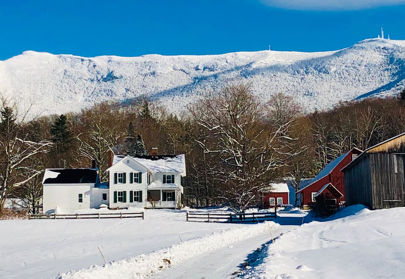 1860's Farmhouse at the base of Mt. Mansfield-Vermont's tallest peak.