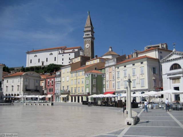 Large central ap., terrace, parking - Piran - Hus