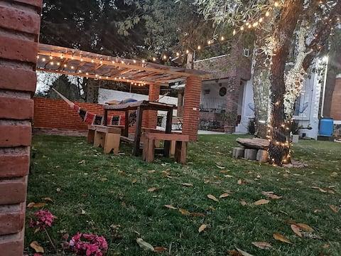 Casa campestre en el Ajusco con Jardín privado.