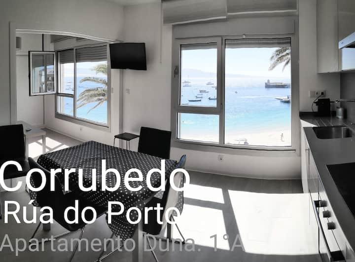 Dunas- Ap1ºA en el puerto Corrubedo-1ª línea playa
