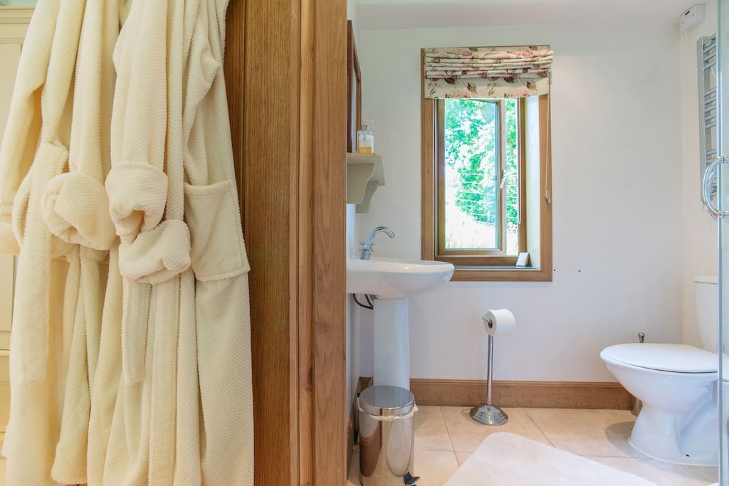The Endrick ensuite shower room, views over farmland