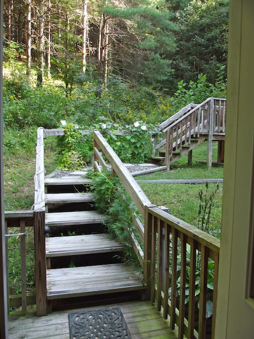 Walk out the back door to a private hot tub filled only with fresh, hot mineral water