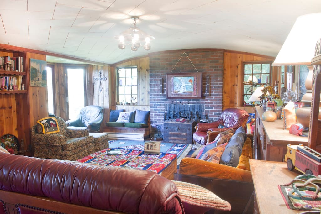 Living room was designed by noted architect Percy Bentley.