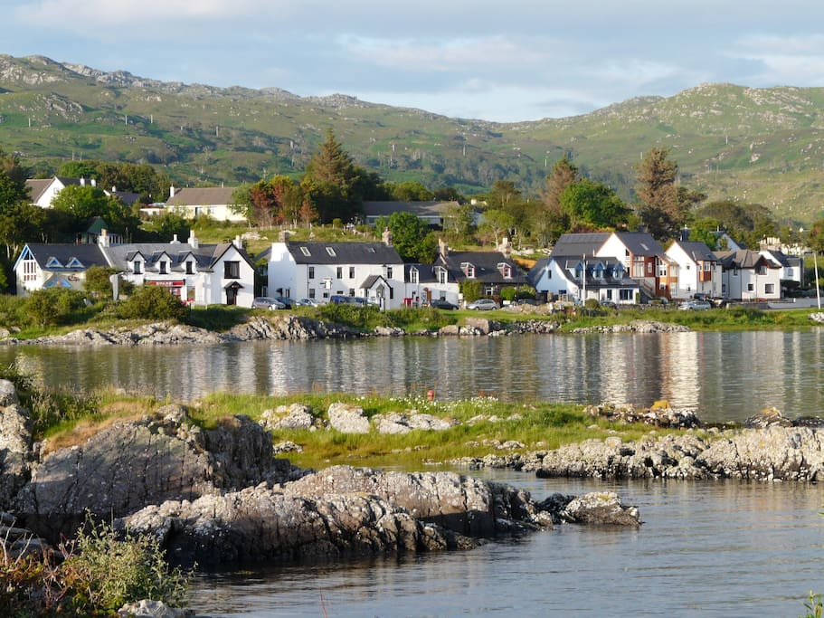 Arisaig village, close to the fishing port of Mallaig and the white sands of Morar.