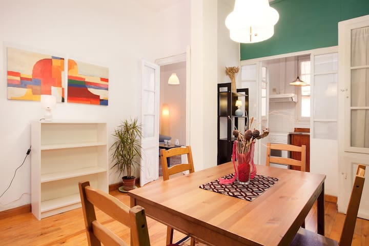 (P3)COZY AND OUTSIDE FLAT IN GRACIA