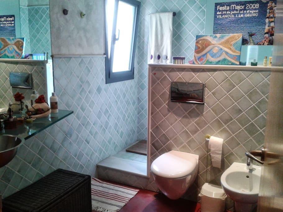 Baño con ducha familiar