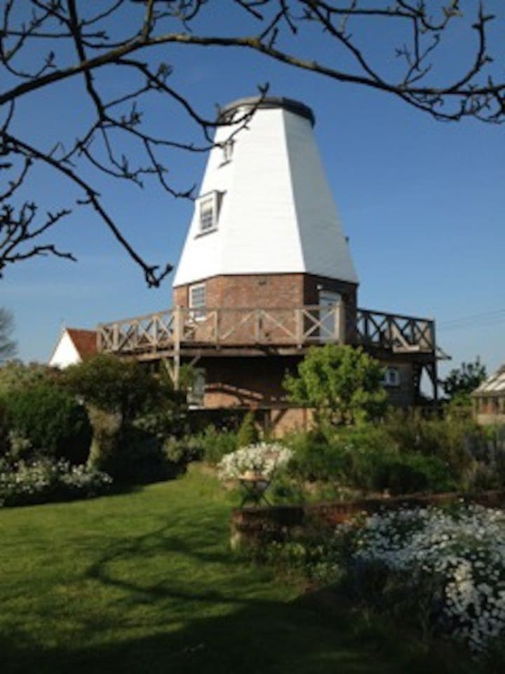 Old Smock Windmill in rural Kent