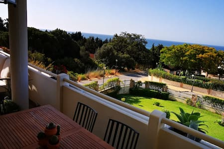 Elegant two double bed apartment with sea view