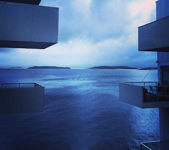 balcony ocean view appartment - Stavanger - Daire