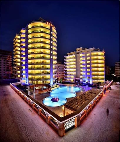 Big 2+1 appartment(2014) with pool, 300m to beach