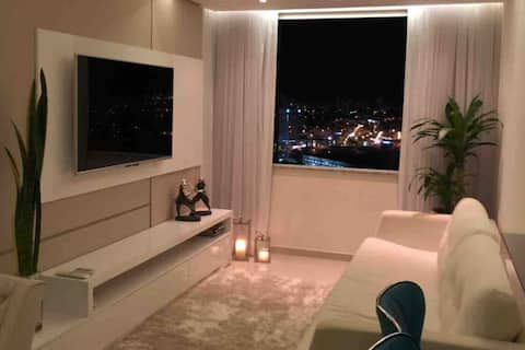 New apartment, beautiful decorated near shopping, air and wifi