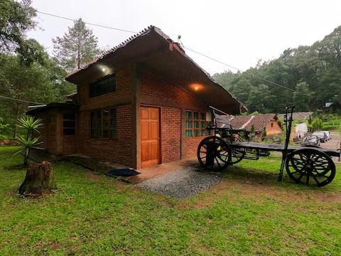 Cabaña en el bosque con Temazcal, Acaxochitlán
