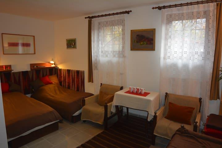 Eger belvárosközeli csendes kis szoba