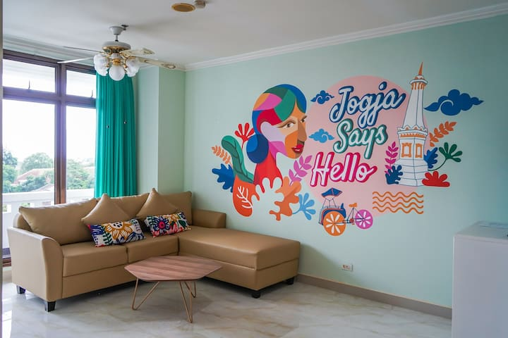Jogja Says Hello 2-Bedroom Instagramable Apartment