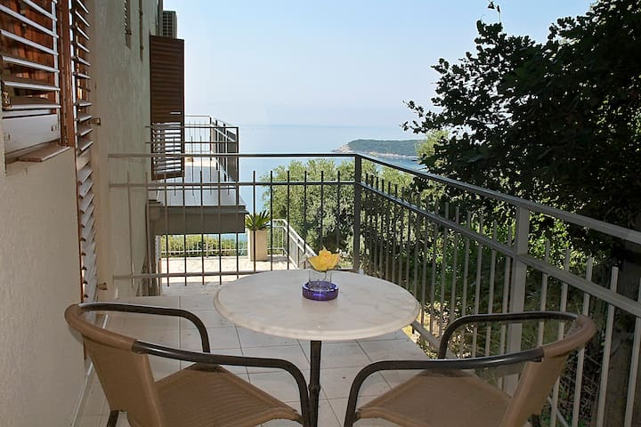 Studio apartment with sea view - Prijevor - Apartment