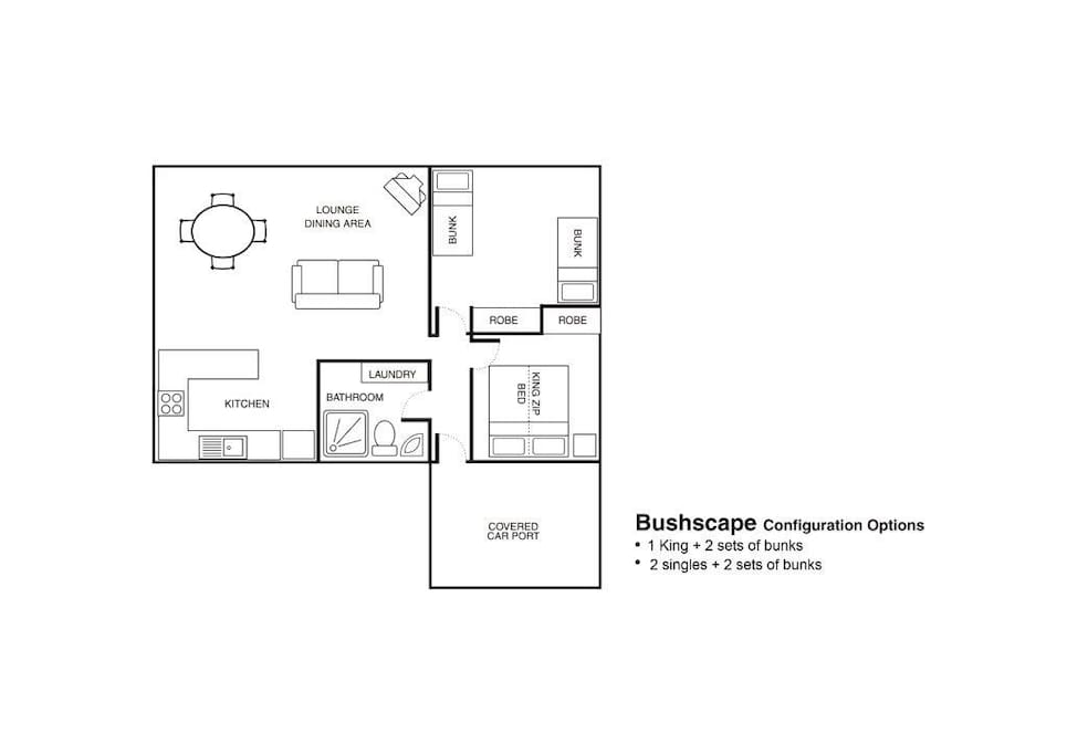 Bushscape floor plan