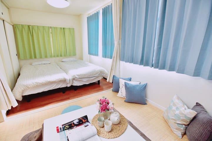 獨立房間 衛浴乾濕分離 交通便利 無線WIFI 大阪hosanna之家 H.J房 歡迎您的到來~ - 大阪市浪速區 - Bed & Breakfast