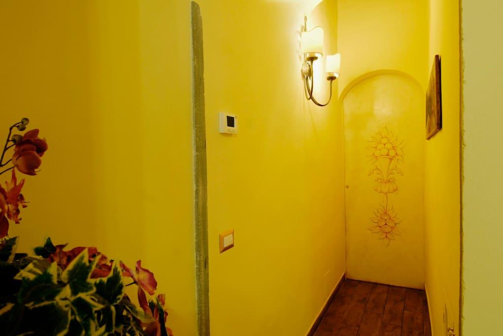 Corridoio di accesso alla camera