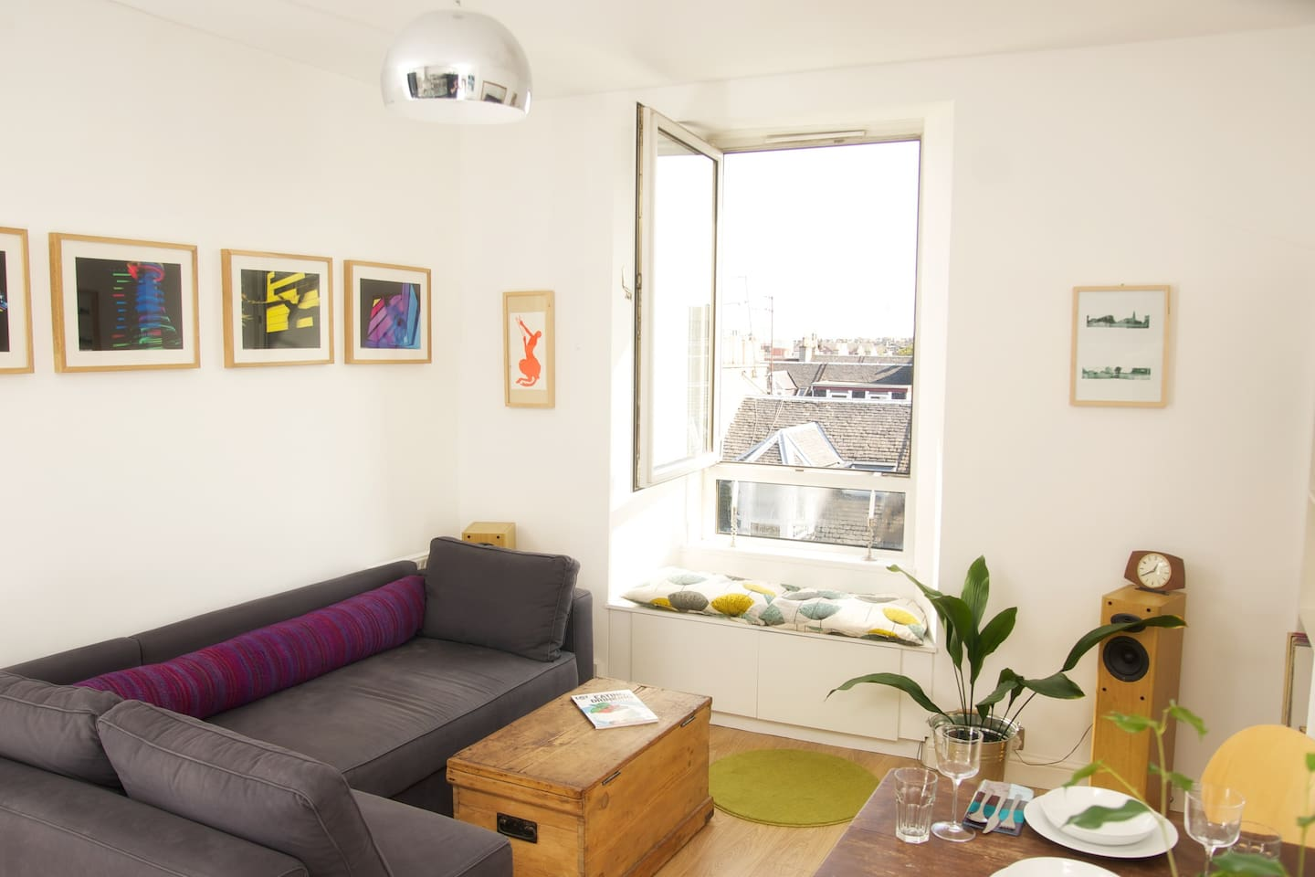 Big comfy sofa and sunny window seat to enjoy the panoramic view