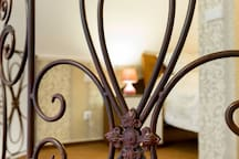 Hand-made wrought iron balustrade
