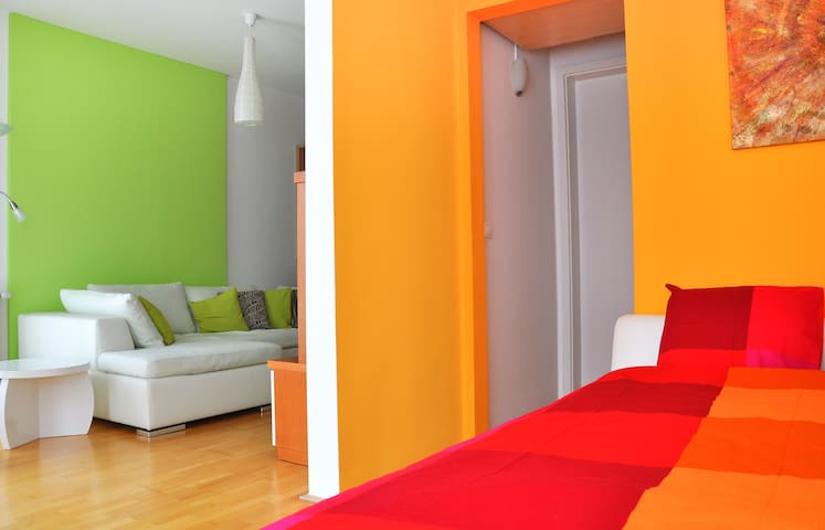 New colourful flat in the city
