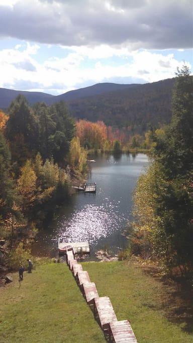 Gorgeous fall lake/mountain view
